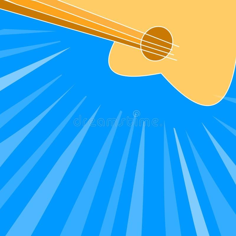 Guitar background vector illustration