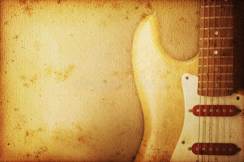 Guitar Background royalty free illustration