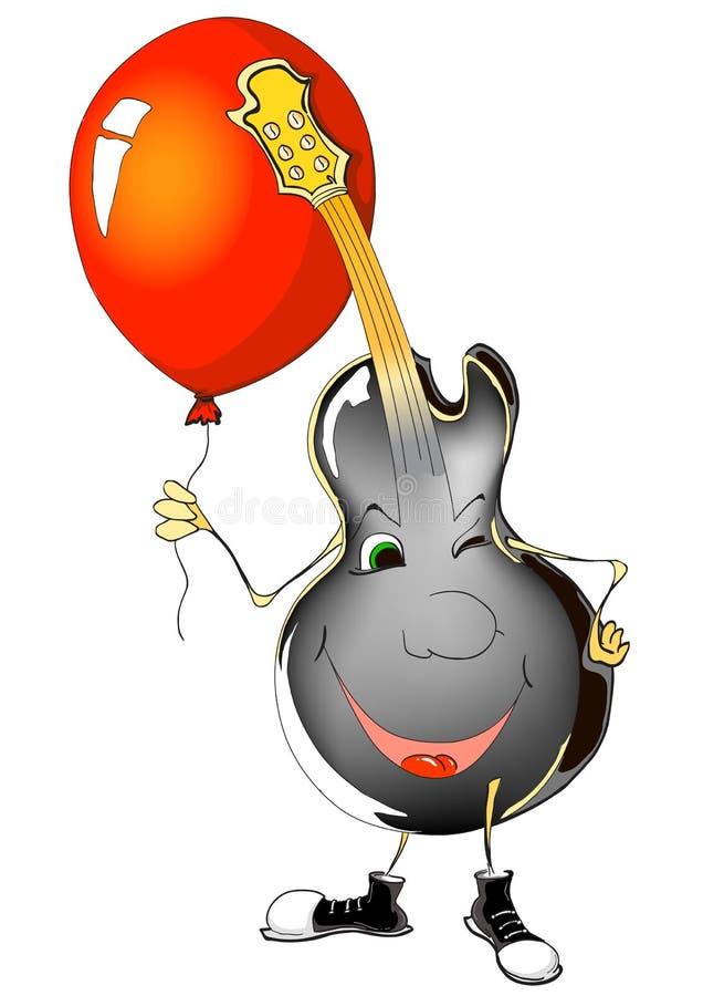 Download Guitar and ballon stock illustration. Illustration of guitar - 12418862