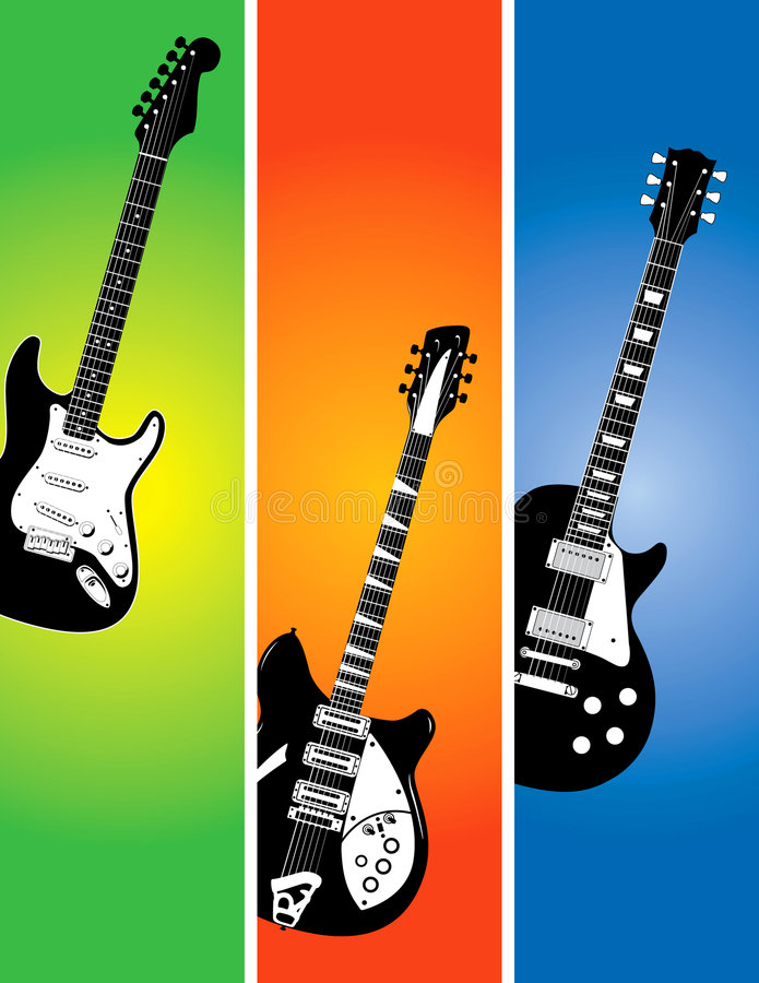 Download Guitar banners set stock vector. Illustration of design - 6031868