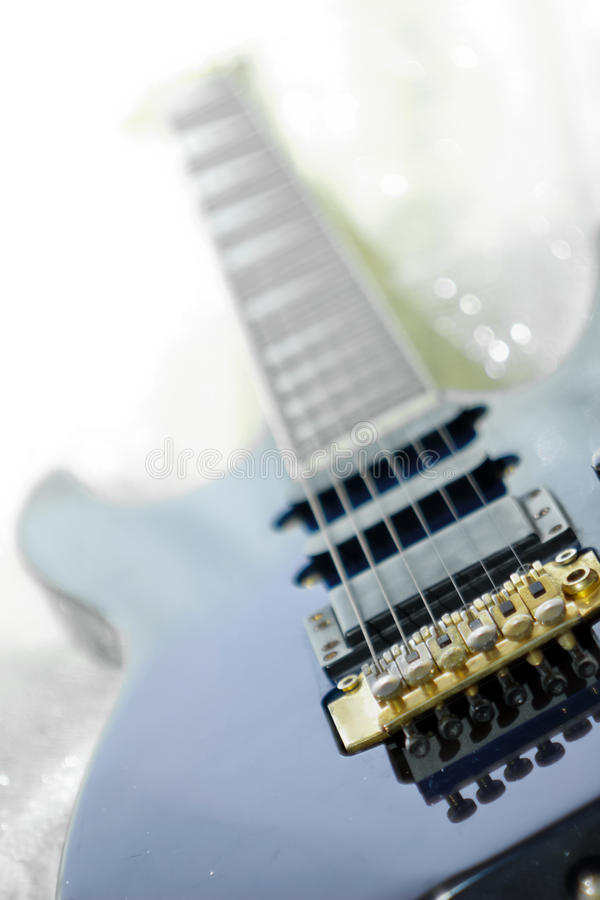 Download Guitar in bed stock photo. Image of blue, sheet, electronic - 18992424