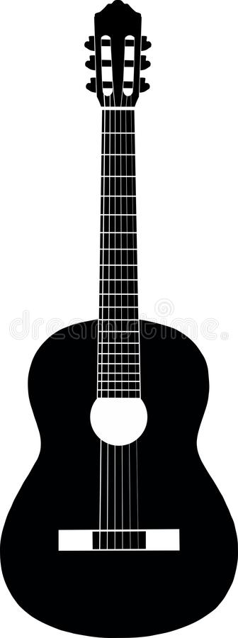 Guitar Black-and-white Royalty Free Stock Photography