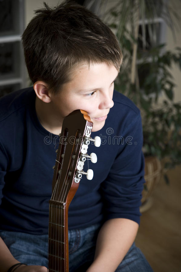Download Guitar boy stock photo. Image of thinks, thinking, melancholy - 11707358