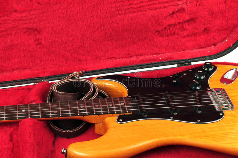 Download Guitar in a case stock photo. Image of jazz, over, beautiful - 22466568