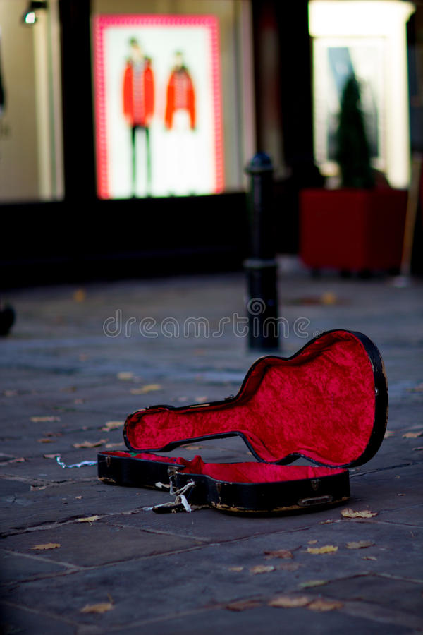 Guitar case stock photography
