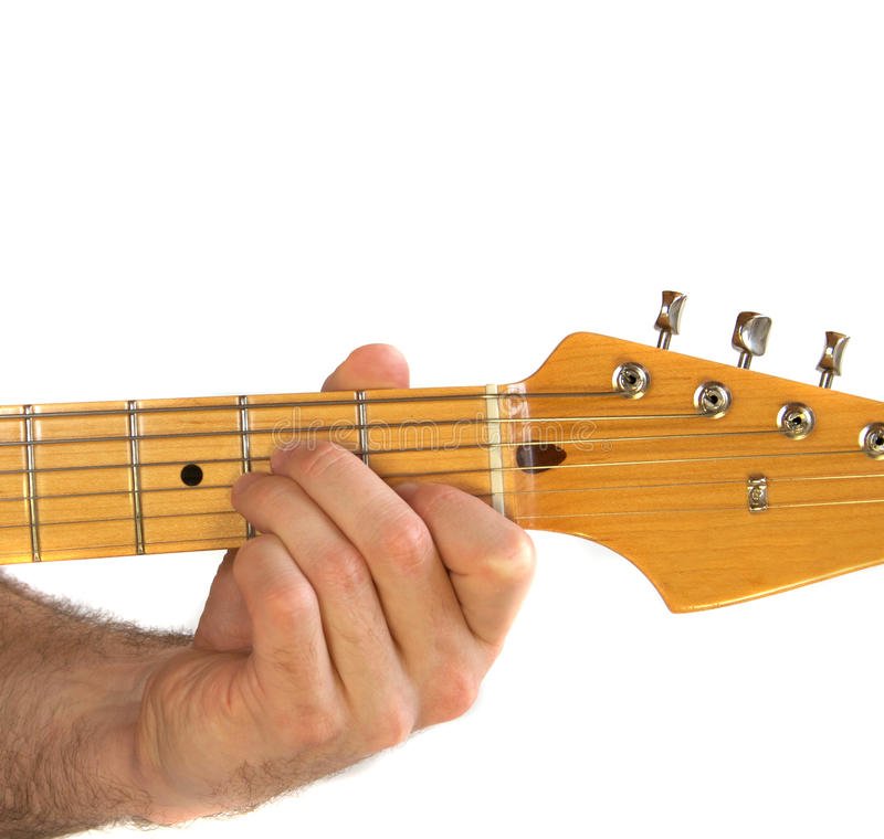 Download Guitar Am Chord stock image. Image of fretboard, tune - 12165761
