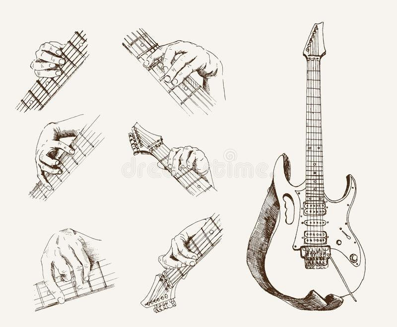 Guitar and chords stock vector. Illustration of retro - 30521855