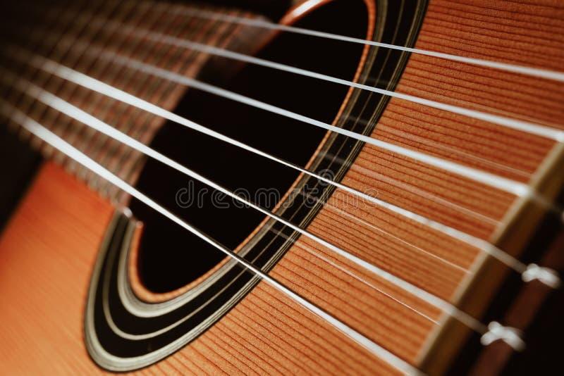 Guitar classic in dark background stock photos