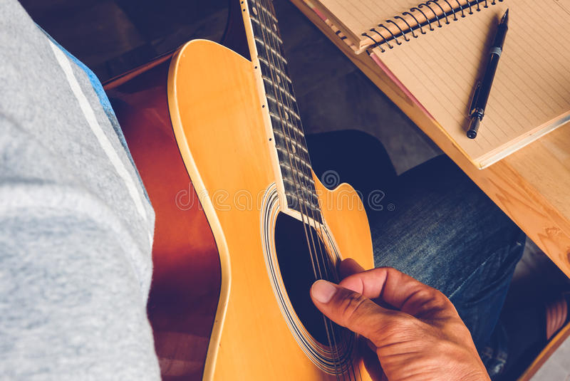 Guitar composion royalty free stock images