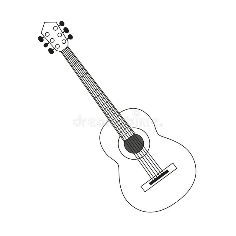 Contour Line Drawing Guitar : Guitar contour black white stock vector image of circuit