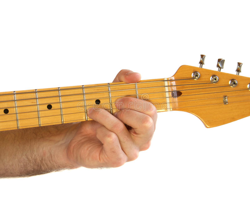 Guitar D Chord Royalty Free Stock Photo