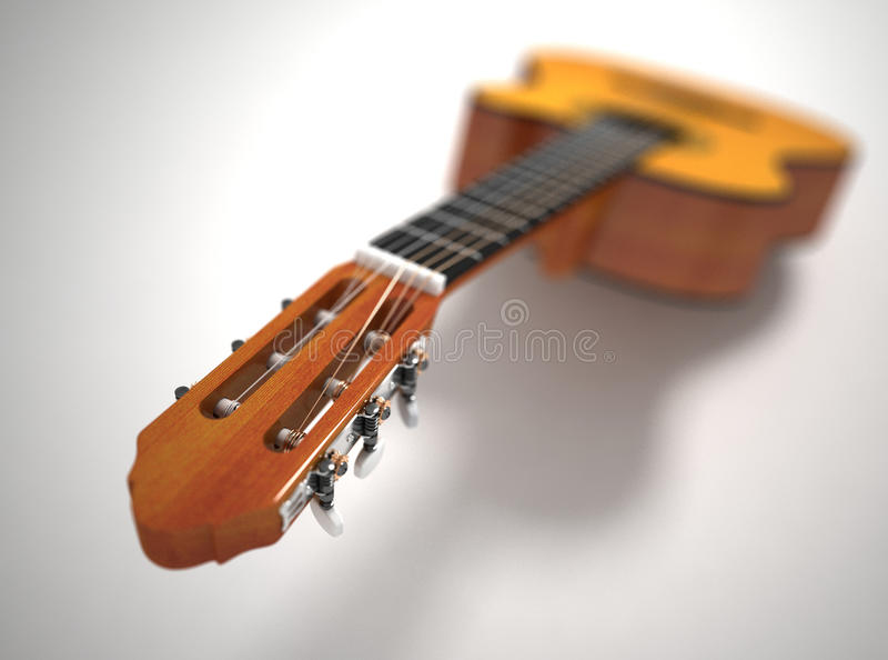 Guitar. Depth Of Field Royalty Free Stock Photos