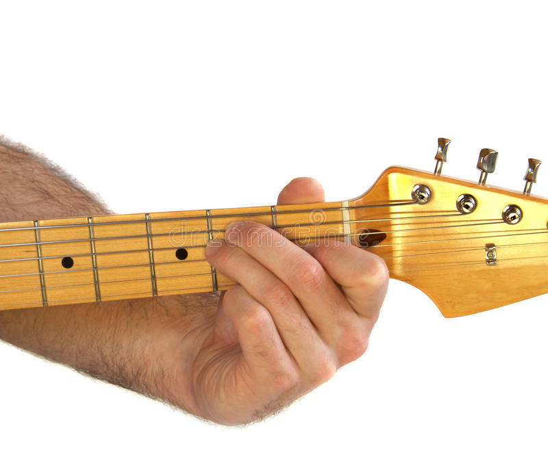 Guitar E Chord Stock Photo