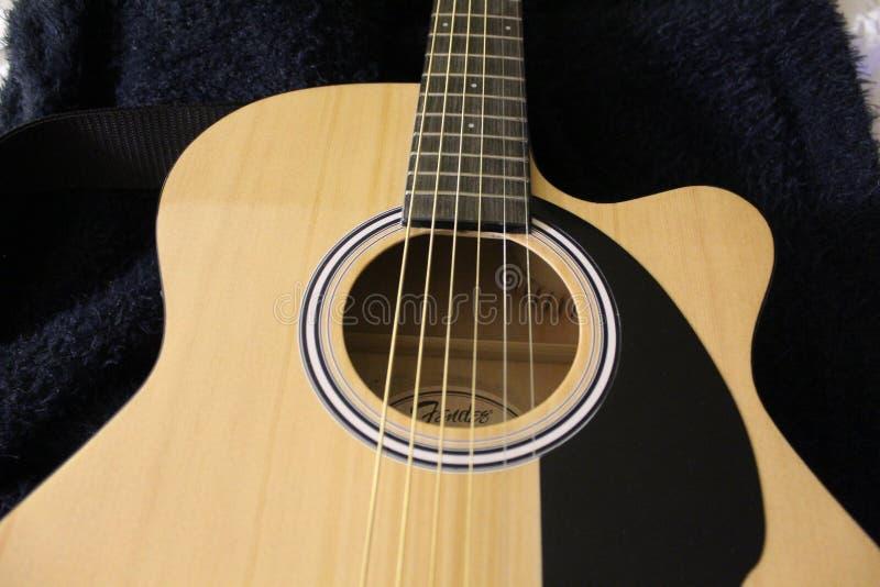 Guitar in een Hotel in Gainesville, Florida, Verenigde Staten stock foto