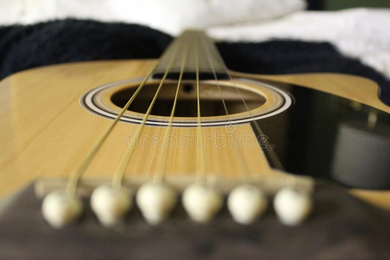 Guitar in een Hotel in Gainesville, Florida, Verenigde Staten stock fotografie