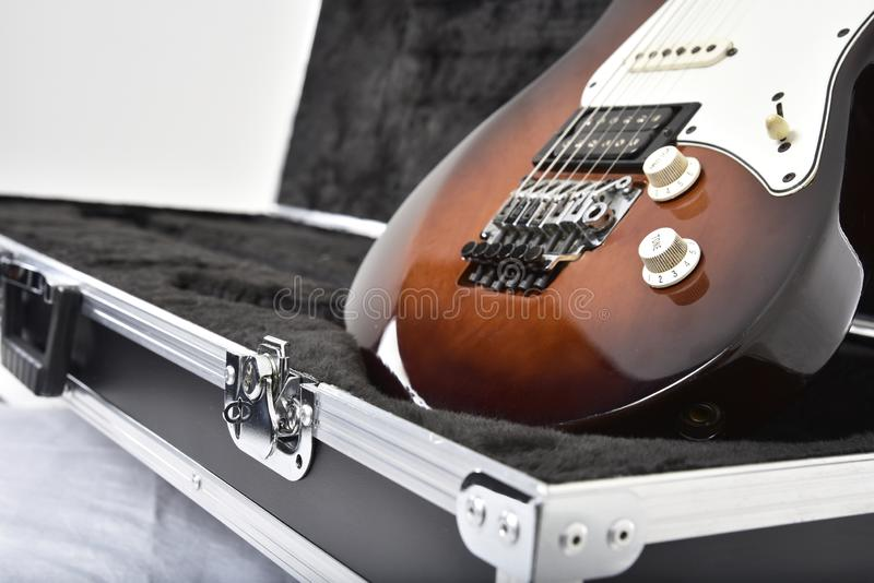 Guitar effects equipment on white background royalty free stock photos