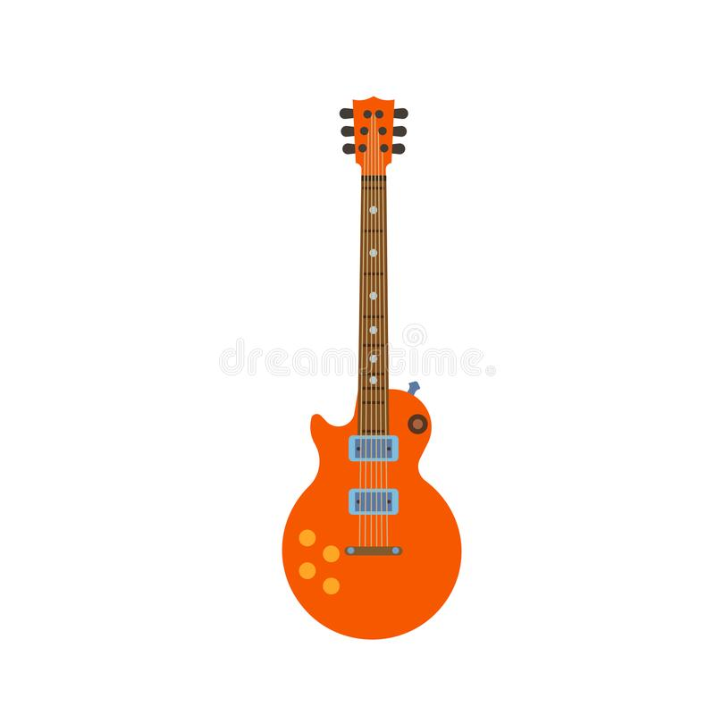 Guitar electric vector rock music illustration. Instrument music royalty free illustration