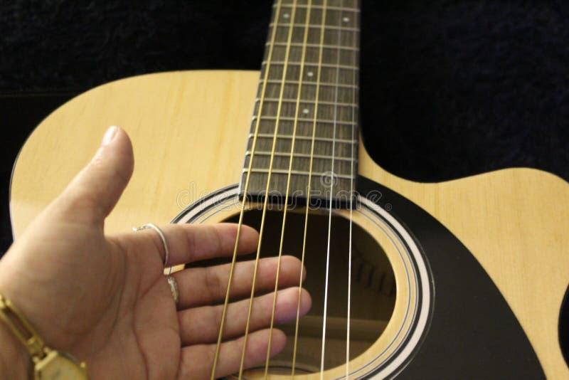Guitar en un hotel de Gainesville, Florida, Estados Unidos foto de archivo