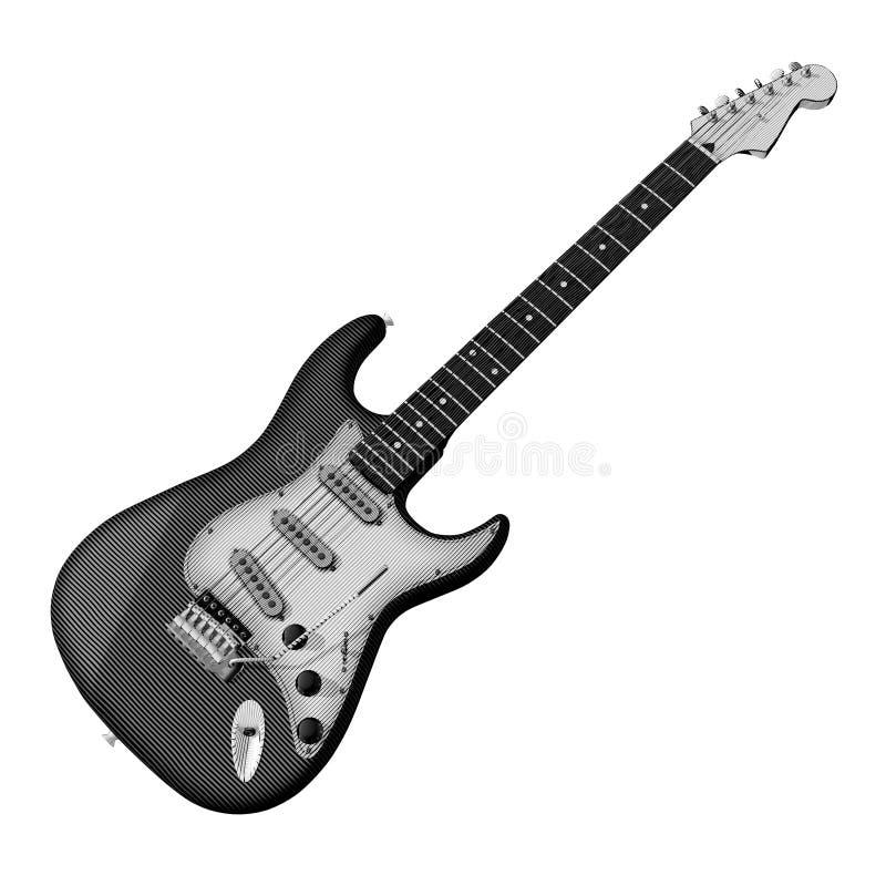 Guitar engraving stock image