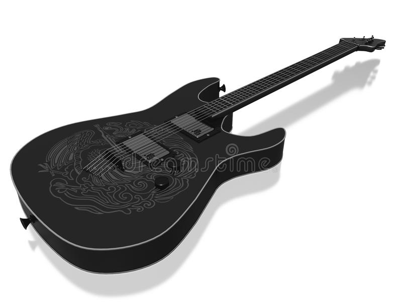 Download Guitar With Figure Of A Bird Stock Illustration - Illustration: 7881984