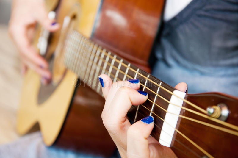 Download Guitar fingers stock photo. Image of song, player, close - 19593608