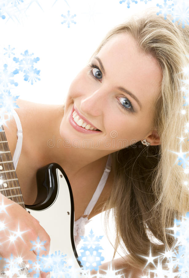 Guitar girl stock photography