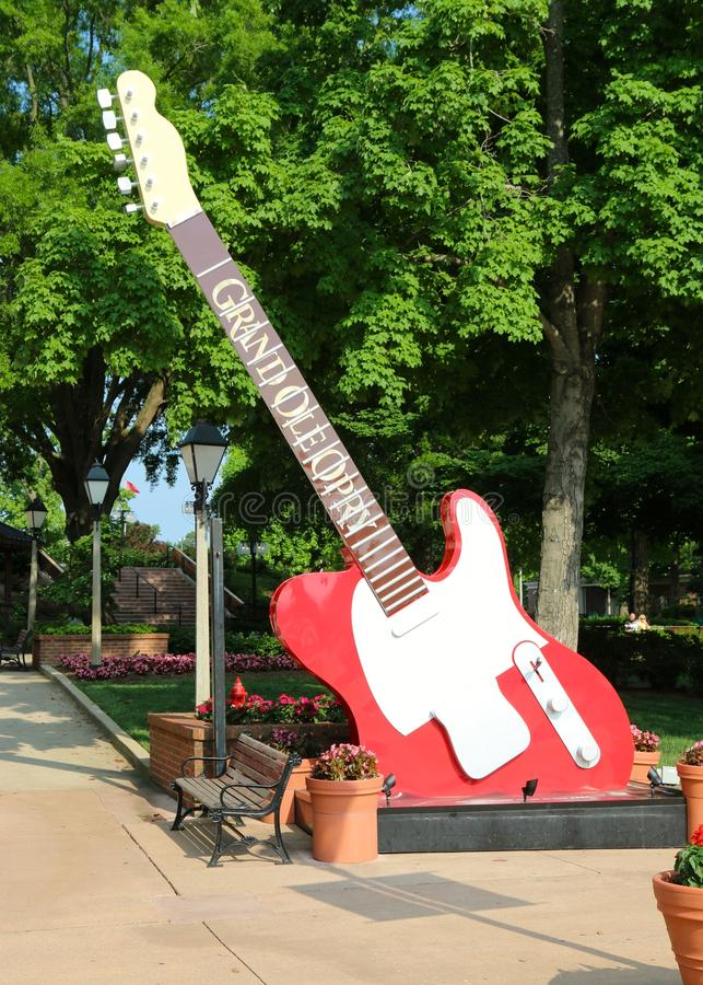 Guitar at The Grand Ole Opry House. The Grand Ole Opry is a weekly country music stage concert in Nashville, Tennessee that has presented the biggest stars of royalty free stock photography