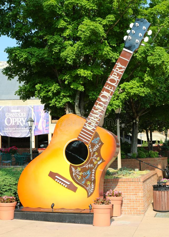 Guitar at the Grand Ole Opry stock photography
