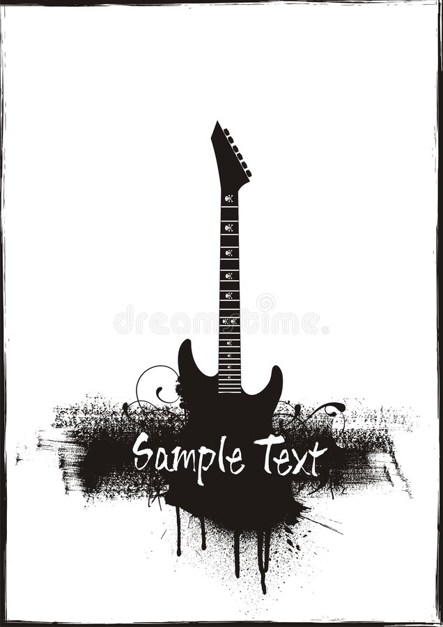 Download Guitar grunge theme stock vector. Image of audience, rock - 6219458