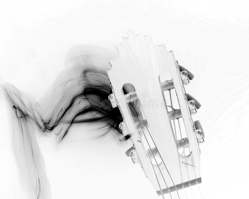 Download Guitar Head With Black Smoke Stock Photo - Image: 90639998