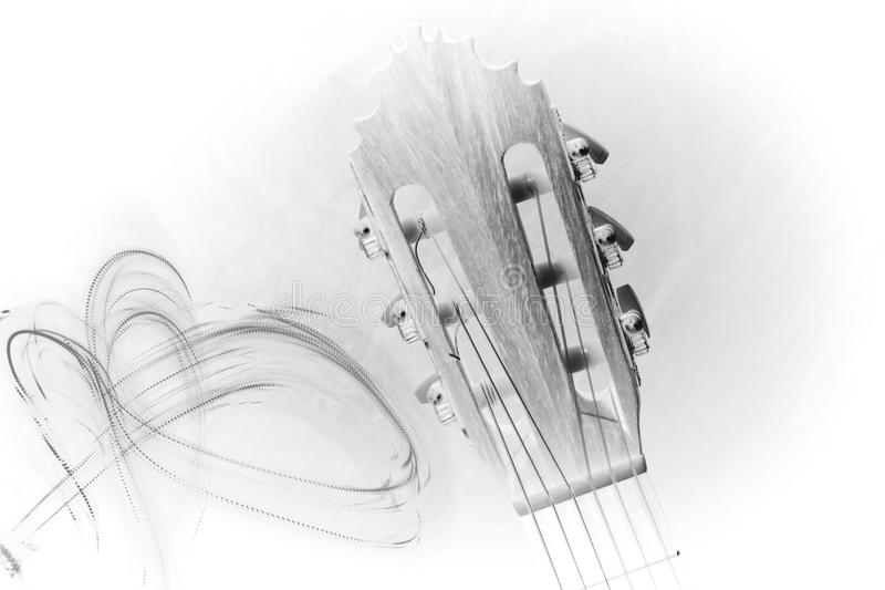 Download Guitar head drawing stock image. Image of graphical, stringed - 90639947