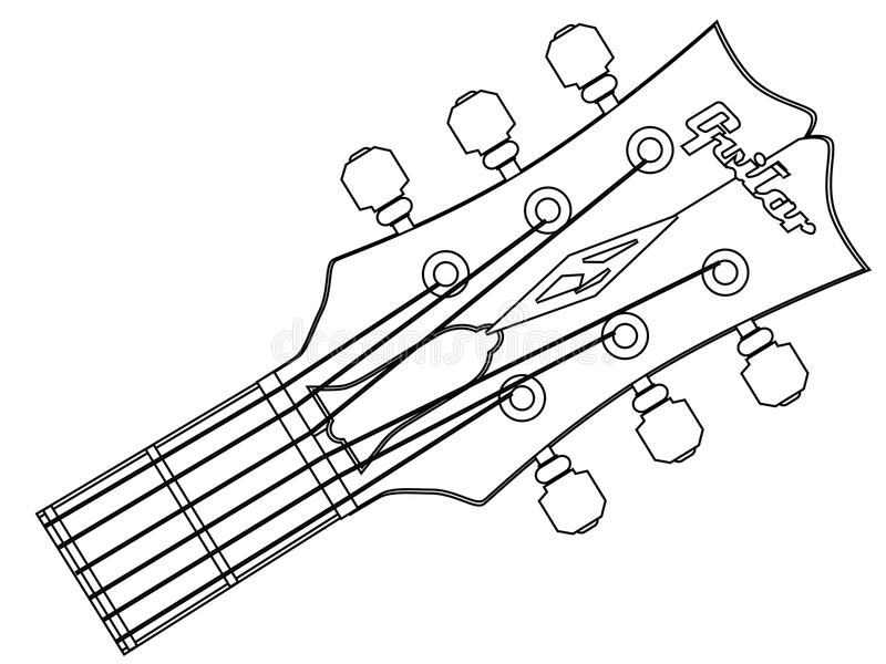 download guitar headstock outline stock vector image of paul 88333673