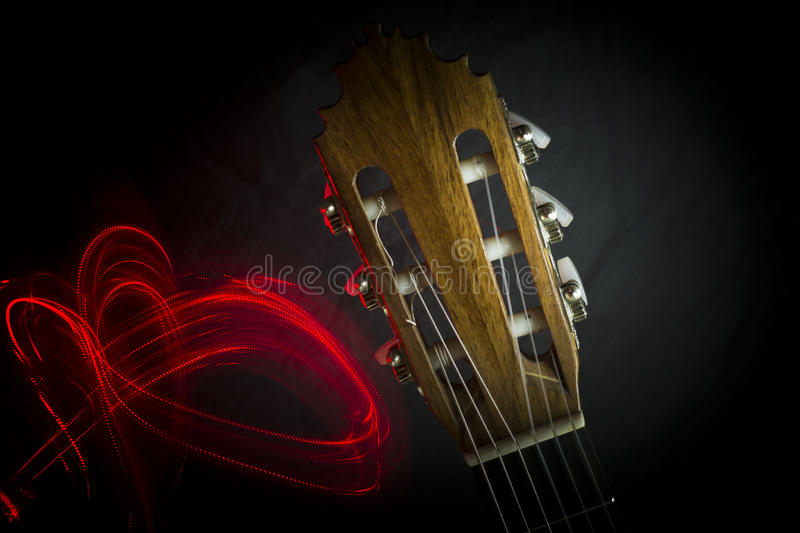 Download Guitar headstock stock photo. Image of instrumental, machines - 90640042