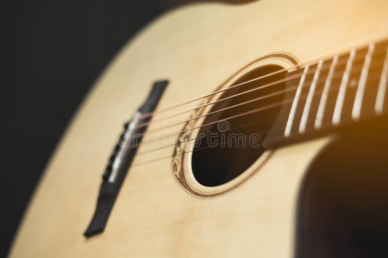 Guitar instrumental stock image  Image of roll, color