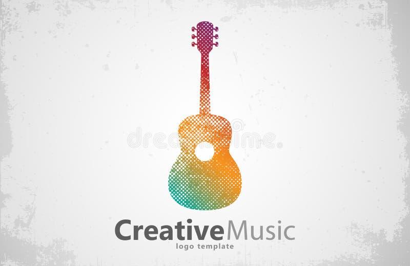 Guitar logo. Creative . Music . design. Guitar logo. Creative guitar logo. Music logo. Music logo design stock illustration