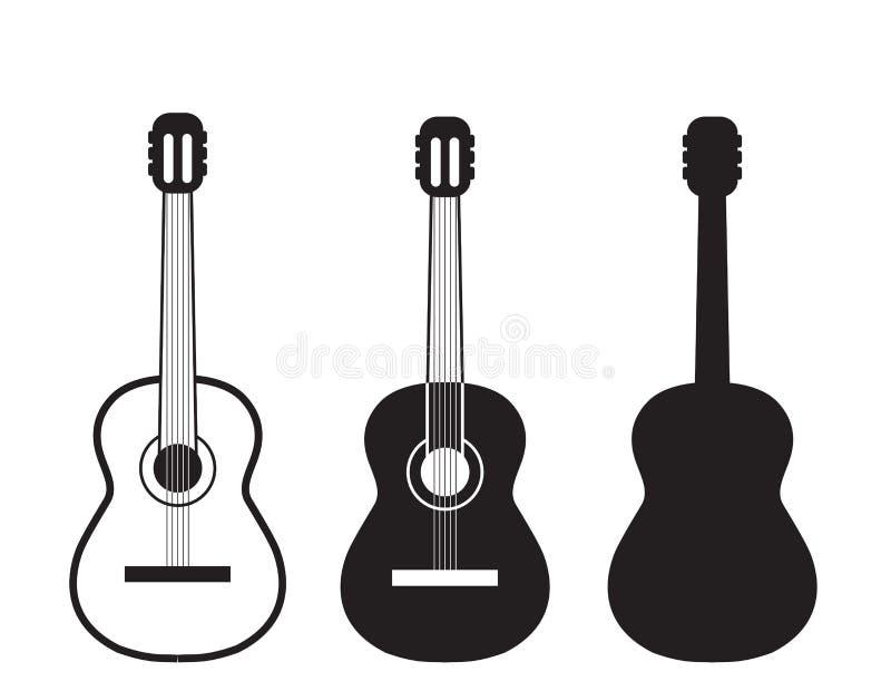Guitar logo vector illustration