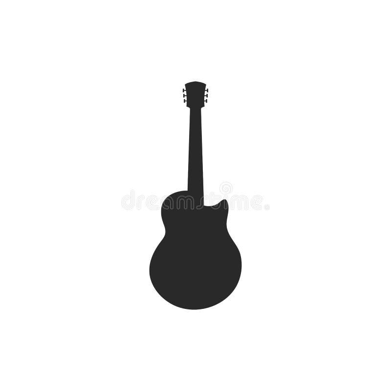 Guitar logo template vector icon illustration royalty free illustration