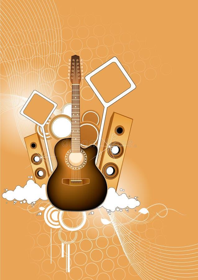 Download Guitar and loudspeakers stock vector. Image of musical - 4470180