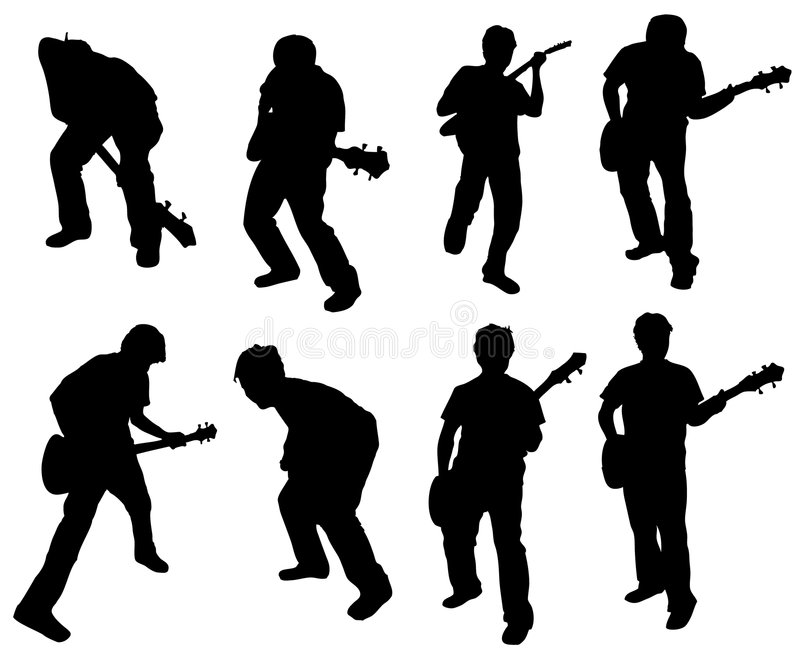 Guitar man stock illustration