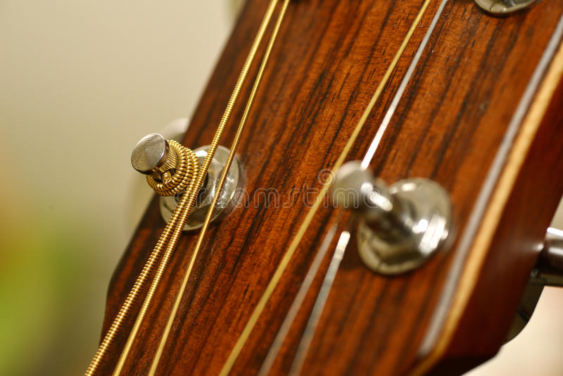 Guitar metal pin royalty free stock image