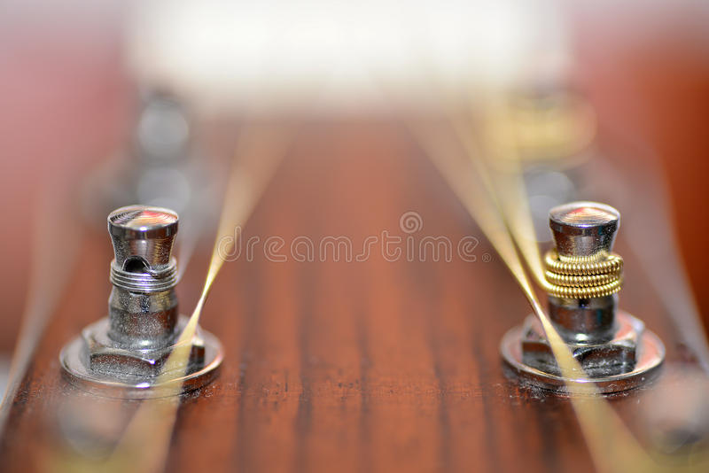 Guitar metal pin stock image