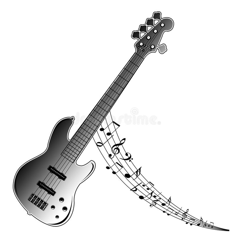 Download Guitar Music notes stock illustration. Illustration of graphic - 17115714