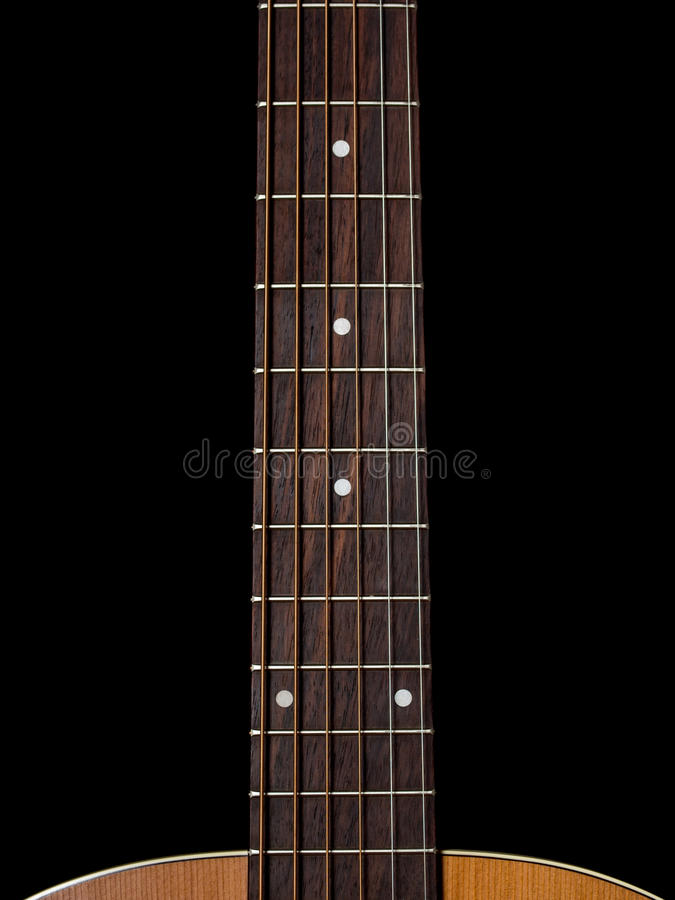 Download Guitar neck stock photo. Image of wood, background, strings - 33294610