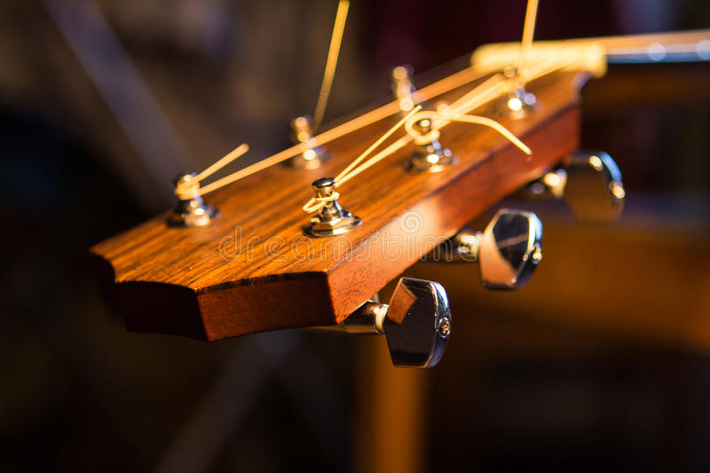Guitar neck. Macro pic. stock photography