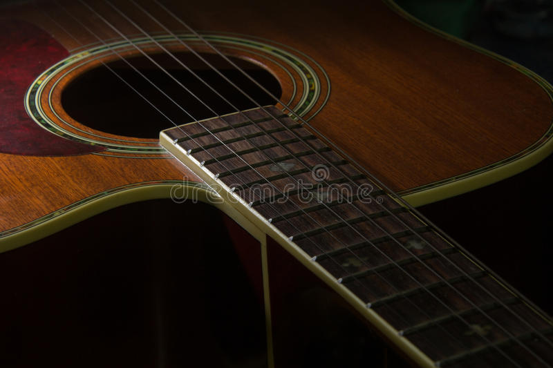 Guitar. This is a Old Guitar royalty free stock images