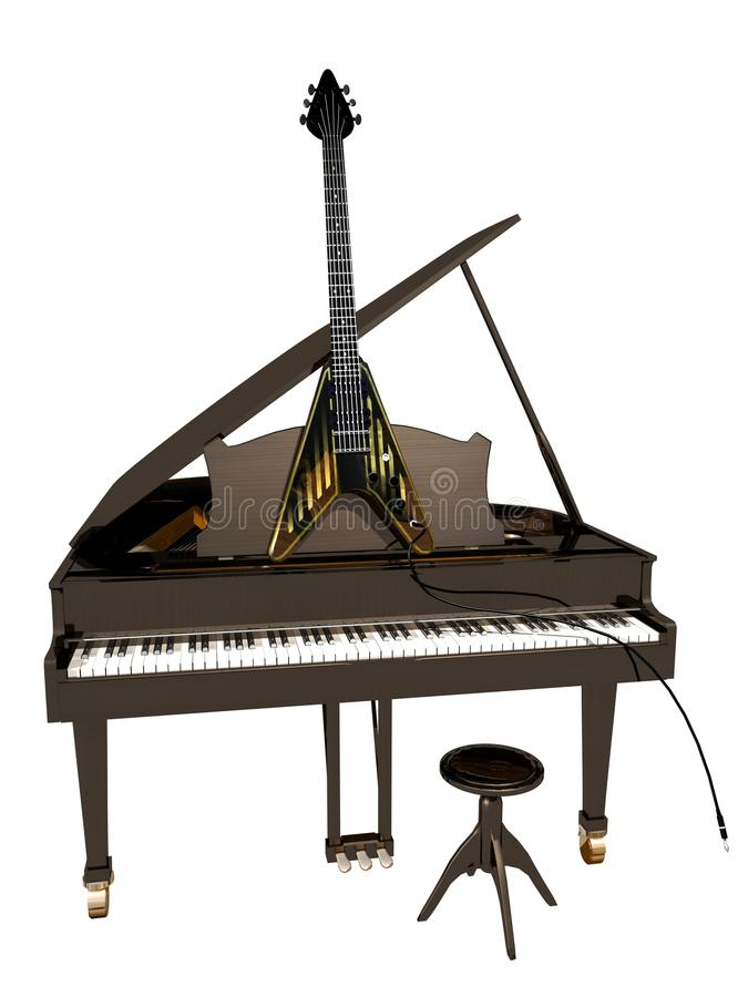 Download Guitar And Piano Stock Photos - Image: 14782323