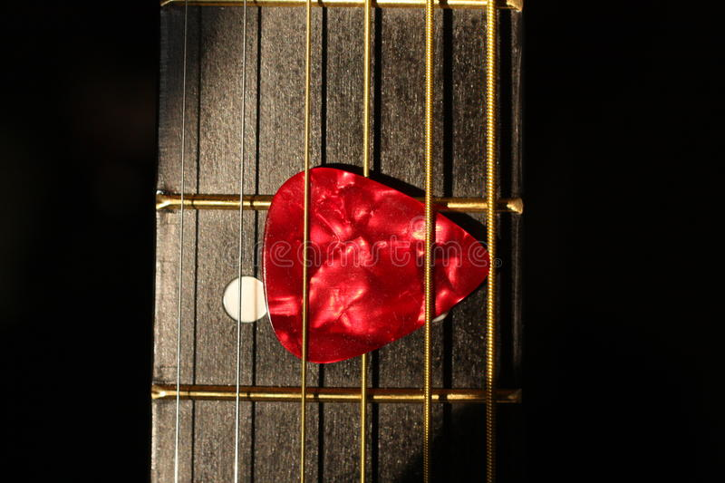 Guitar with Pick stock images