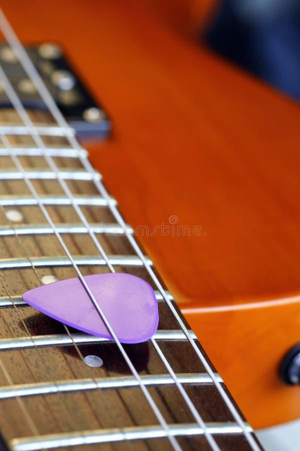 Guitar pick stock photo
