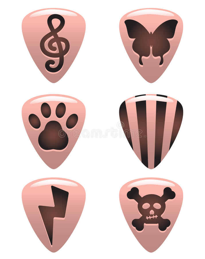 Guitar Picks Royalty Free Stock Photo