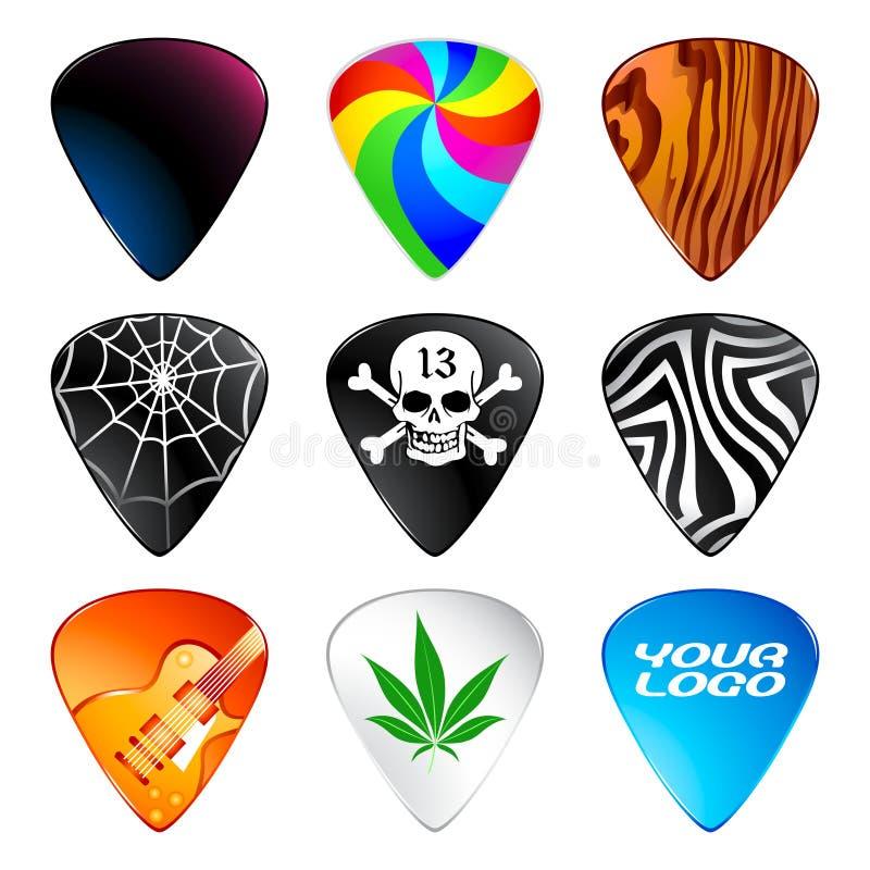 Download Guitar picks stock vector. Image of hippie, item, metal - 7019862